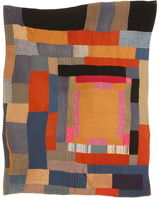 African-American housetop quilt
