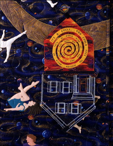 The Domestic Violence Quilt/Screen by Justine Nauman-Greif
