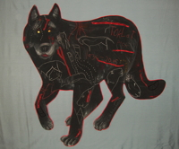 Black Wolf by Nancy Erickson