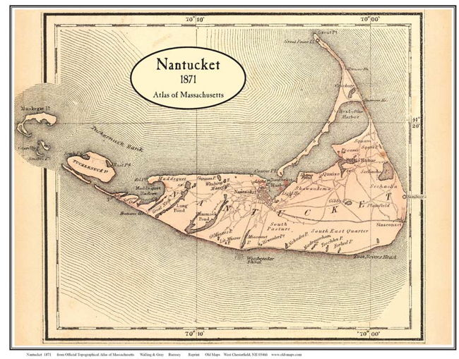 1871 map of Nantucket