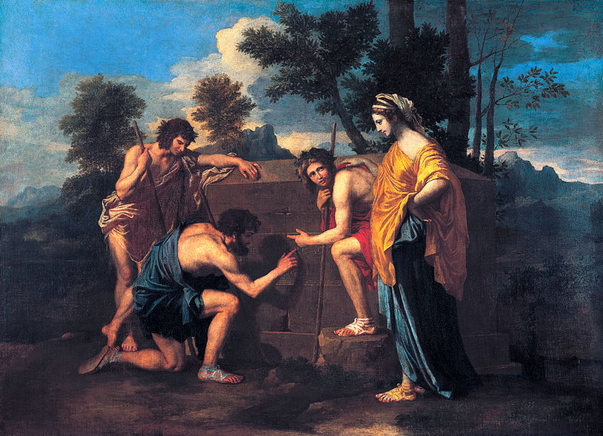 Et In Arcadia Ego ...the Kiss by  Nicolas Poussin