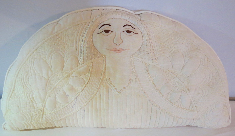 Angel pillow by Elizabeth Gurrier