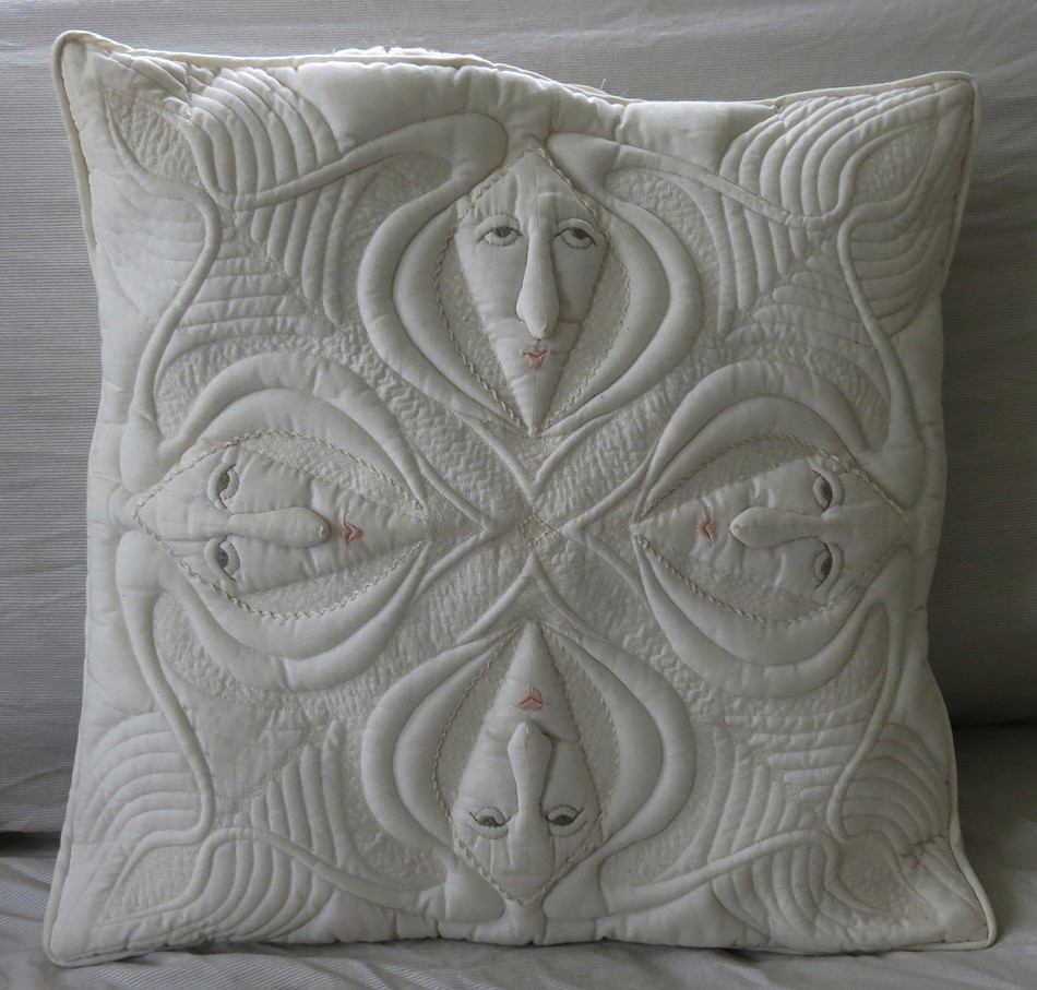 Four Face Pillow #1 by Elizabeth Gurrier