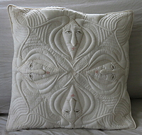 Four Vace Pillow by Elizabeth Gurrier