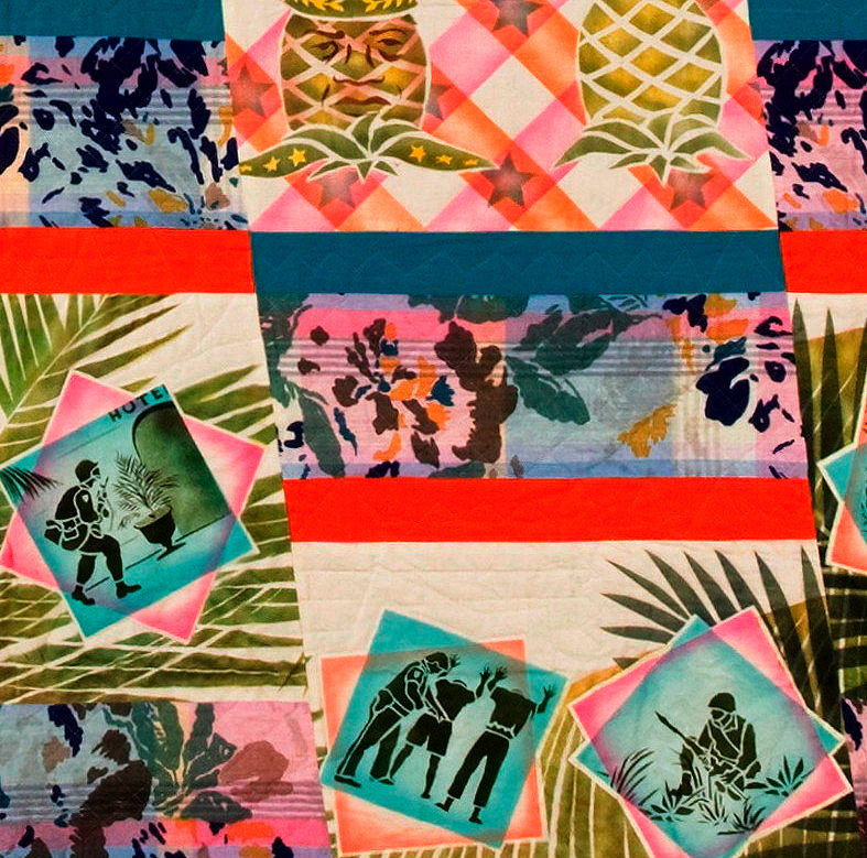 Detail of Trouble in the Tropics by Katherine Knauer