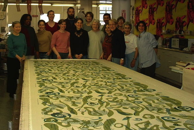Group with silk-screened fabric used in Kartina by Katherine Knauer