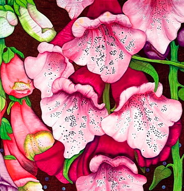 Detail of Foxglove by Velda Newman