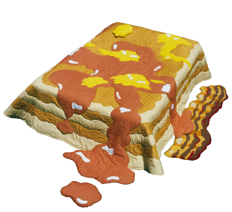 Pancakes, Butter ane Syrup Quilt with Bacon Rug