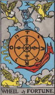 Wheekl of Fortune tarot card