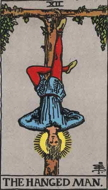 The Hanged Man, card from the Rider Waite Tarot deck