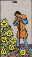 7 of Pentacles tarot card